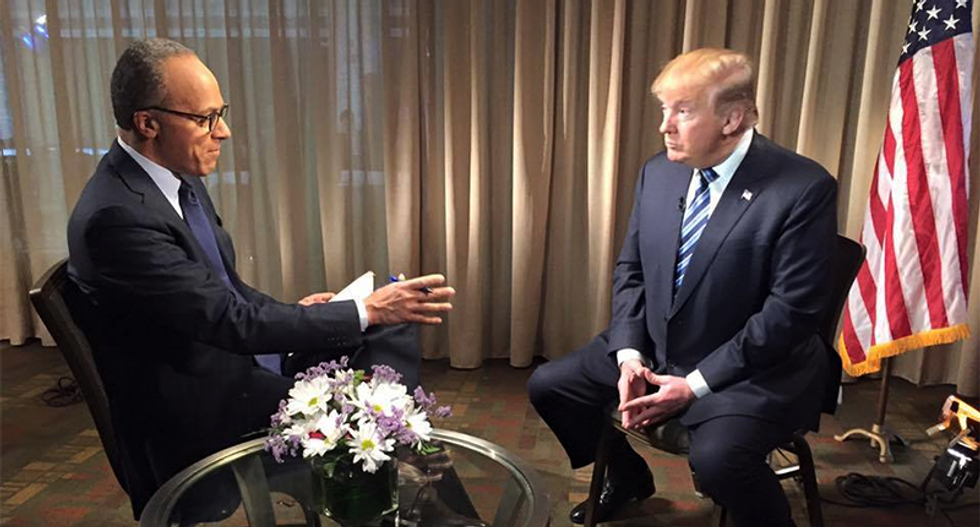 Trump lashed out at NBC for airing his full Lester Holt interview that many consider obstruction of justice