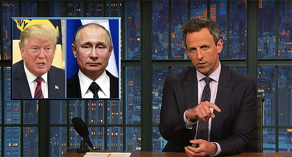 Seth Meyers catches Trump in strange lie about his call with Putin