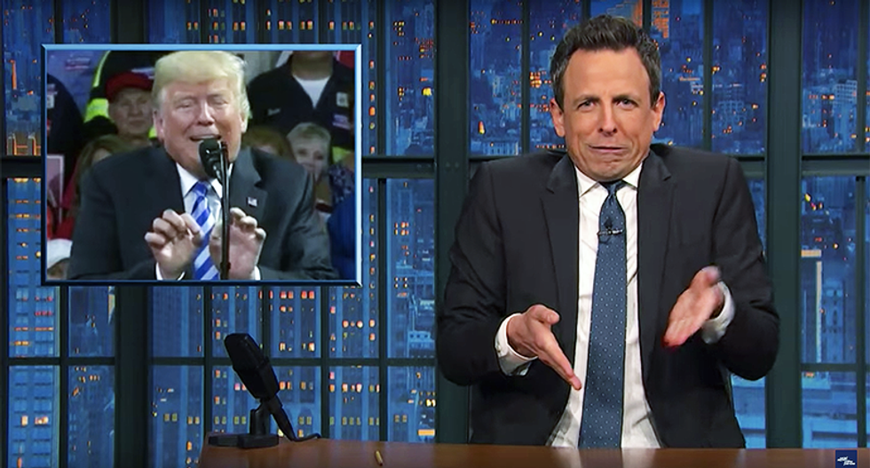 Seth Meyers puts comedy aside to shame Trump for lying to coal miners for two years