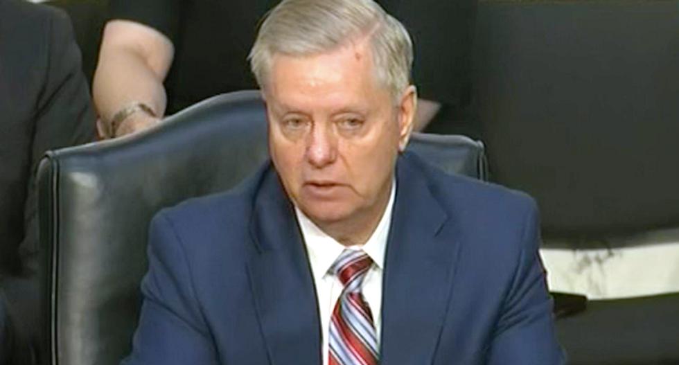 Lindsey Graham interrupts Barr hearing to rebuke Trump on Syria: 'You make people wonder about us'