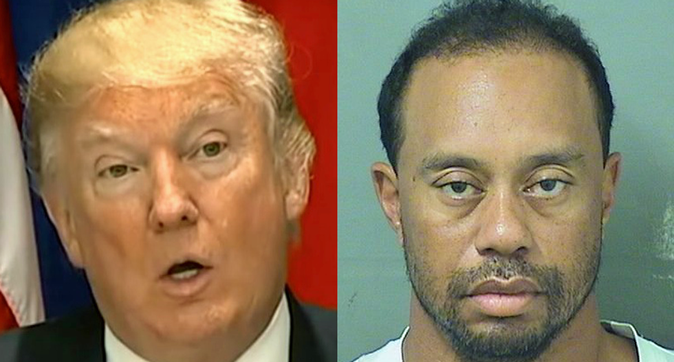 'Tiger Woods has officially hit rock bottom': Golfer roasted for playing with Donald Trump