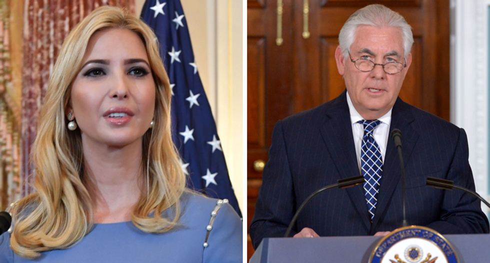 'They don't want to bolster Ivanka': State Dept snubs first daughter's India trip in growing rift between Trump and Tillerson