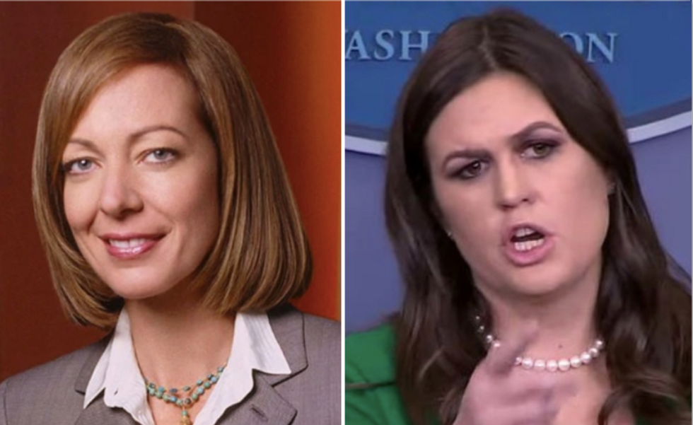 'West Wing' cast members slam Sarah Huckabee Sanders: You're no C. J. Cregg