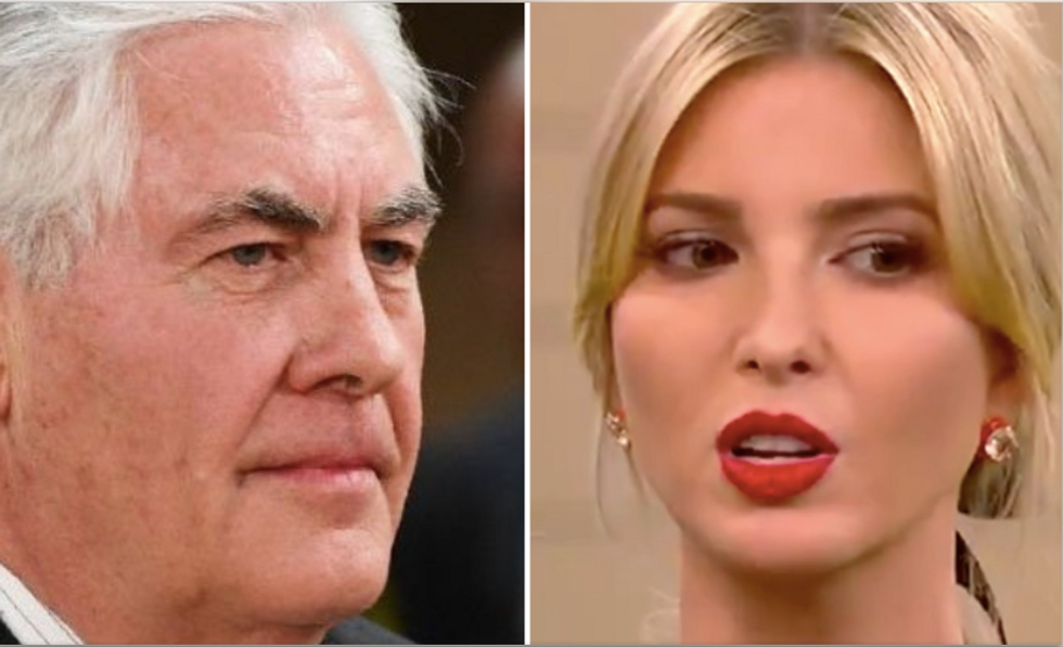 Rex Tillerson is taking revenge on Ivanka by undermining her upcoming India trip: report