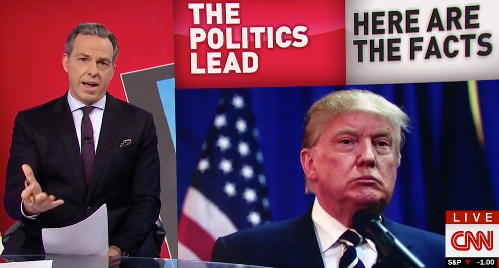 WATCH: Jake Tapper spells out the insidious truth behind Trump's 'insatiable hunger for glowing coverage'
