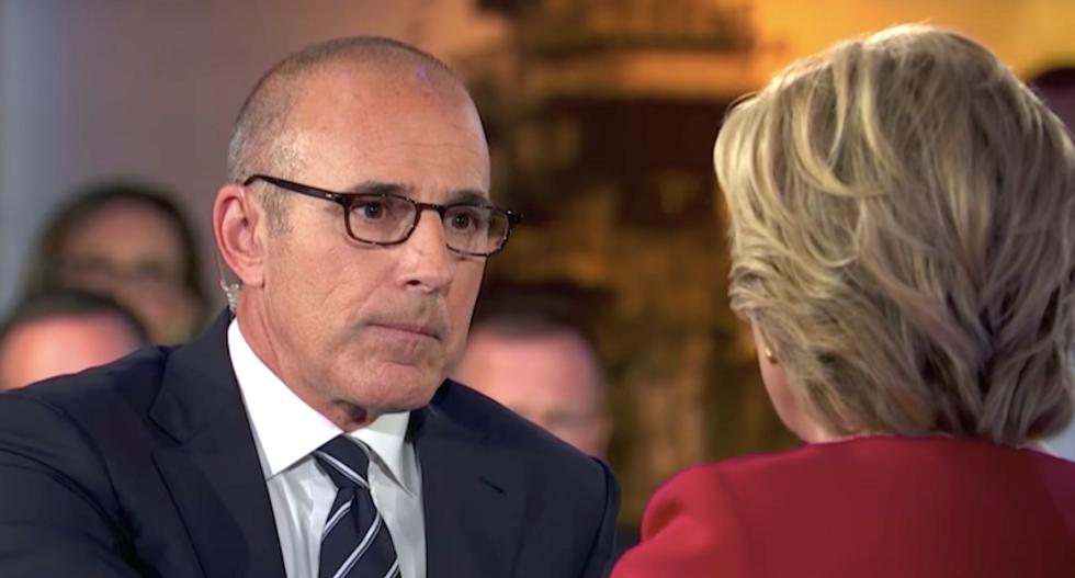 WATCH: Matt Lauer's rude treatment of Hillary Clinton during debate makes more sense after his firing