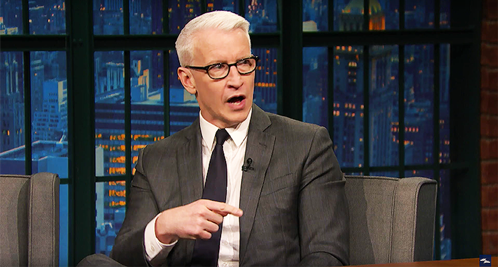 Anderson Cooper mocks Trump's obsession with CNN: He watches my show more religiously than my mom