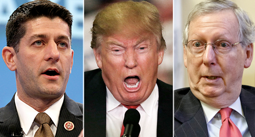 Republicans terrified Trump will cost them Congress: 'He'll drag the Senate and House down with him'