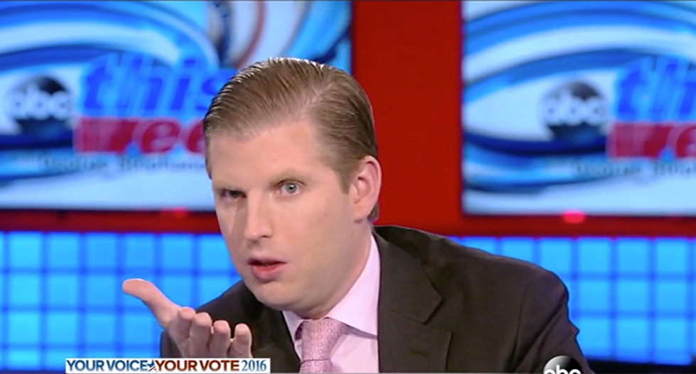 Eric Trump charity under increasing scrutiny over lies about who got money