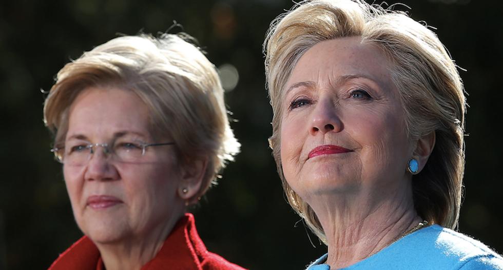 Clinton, other Democrats rally around silenced US Senator Warren
