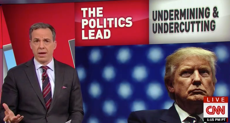 Tapper slams Trump's 'vicious' FBI attacks: He tries to 'undermine any institution that pose a challenge to him'