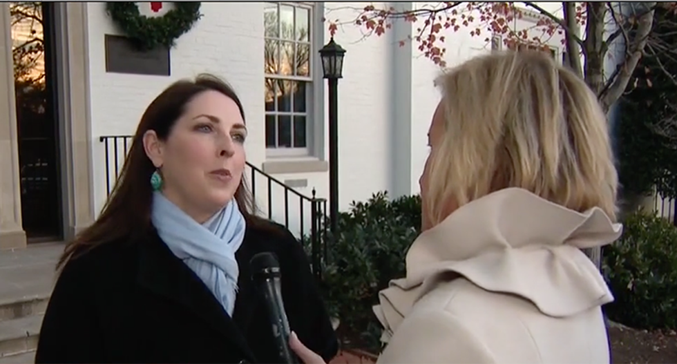 RNC chair refuses to say Roy Moore's name when confronted about why they're sending him money