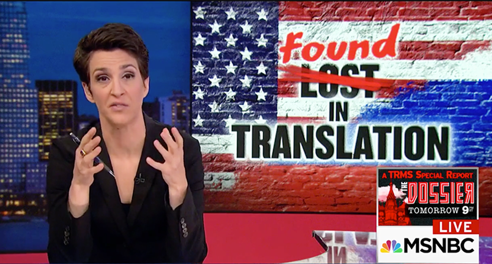 REVEALED: Rachel Maddow translates Russian news site reporting high-level FSB officers were arrested for being US intelligence sources