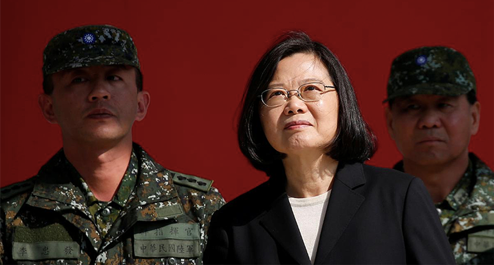 Taiwan takes a dig at China's lack of democracy in new year message