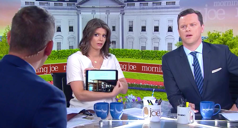 MSNBC hosts repeatedly bust GOP lawmaker's claims about Trump tariffs in brutal interview: 'You don't believe that'