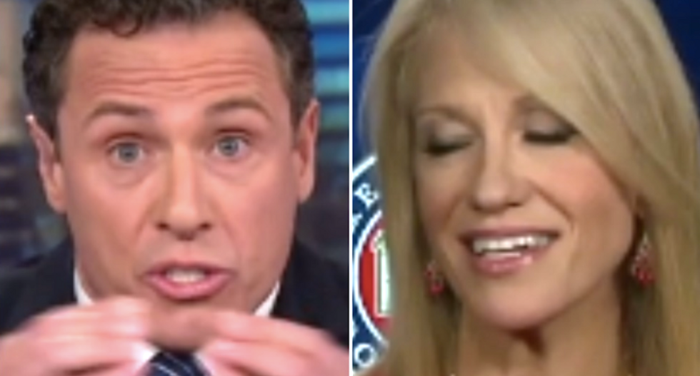 CNN's Chris Cuomo grills Kellyanne Conway in epic battle over Trump's dismissal of Russian hacks