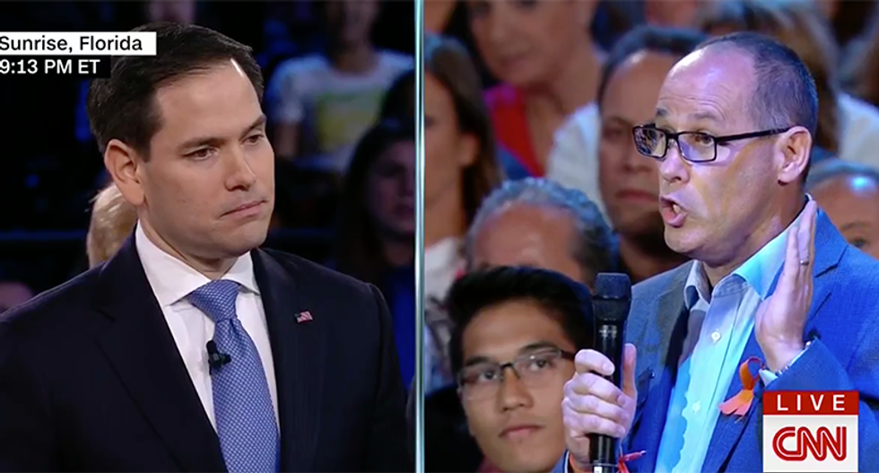 WATCH: Marco Rubio booed by Parkland crowd after angry father rips him for 'pathetically weak' inaction on guns