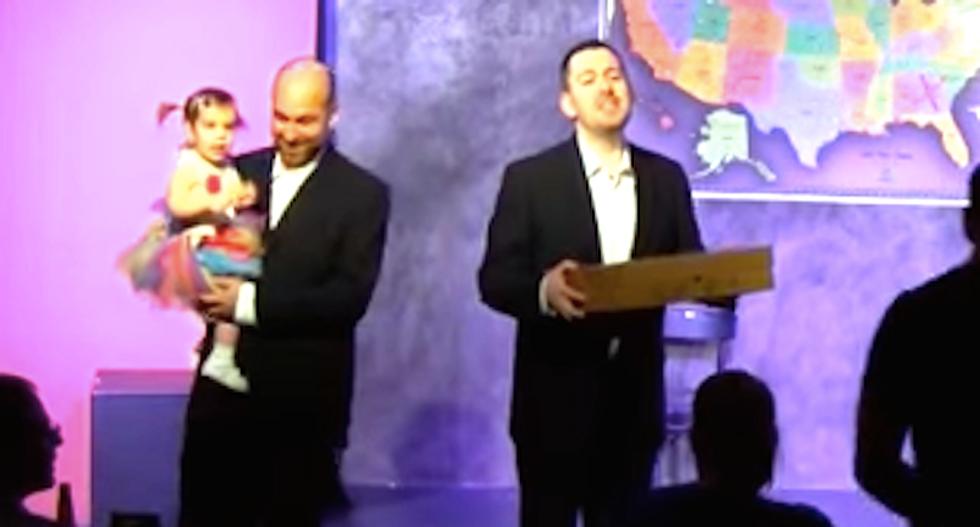 WATCH: Gay couple tricks anti-LGBT Indiana pizzeria into catering their wedding celebration