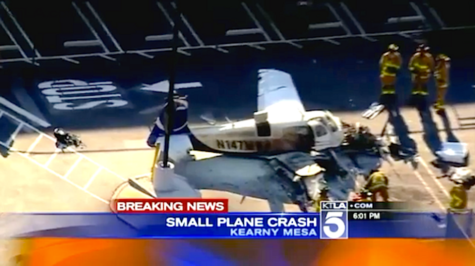 Woman killed when small plane crashes into Costco parking lot in San Diego