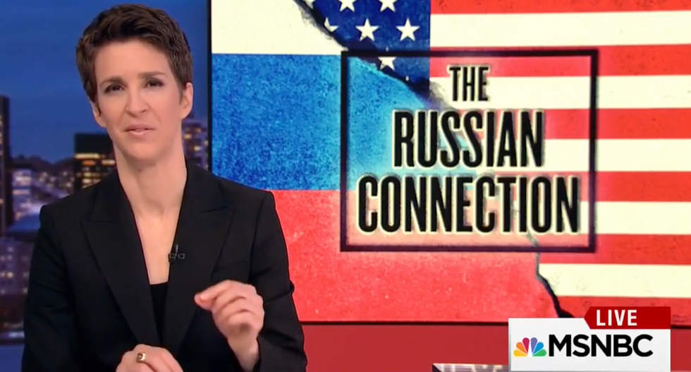 'Everyday, a new piece falls into place': Maddow brilliantly spells out the Trump-Russia connection
