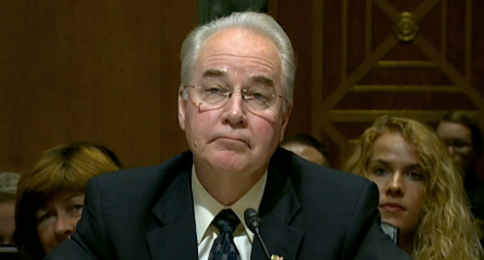 As GOP claims nation can't afford healthcare, HHS Sec took 5 private jets to US destinations -- in just one week
