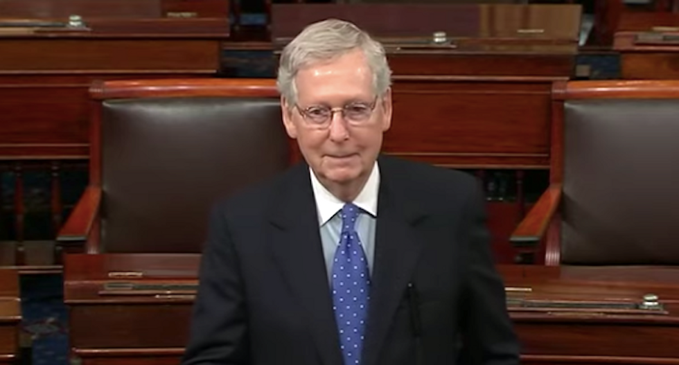 WATCH: Mitch McConnell bizarrely blames Obama for Russian efforts to elect Trump