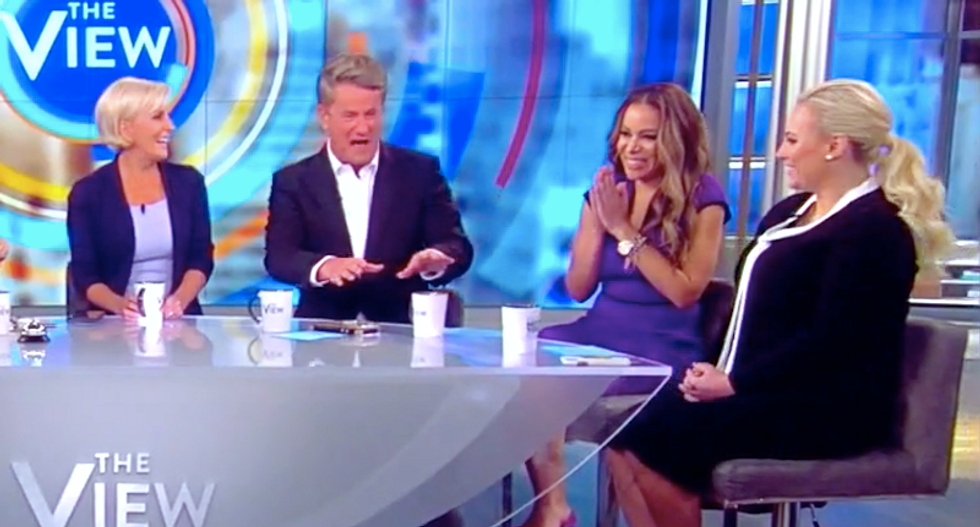 The View's Meghan McCain sits quietly as MSNBC's Morning Joe shreds GOP inaction on Trump's abuses