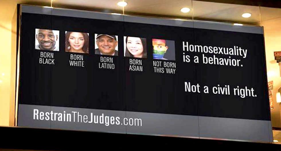 Conservatives insist billboards against same-sex marriage have nothing to do with 'the gay community'