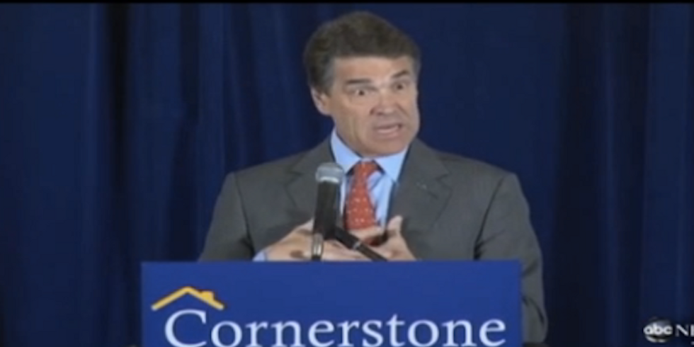 Throwback Thursday: 13 Times we're pretty sure Rick Perry was high as a kite on drugs