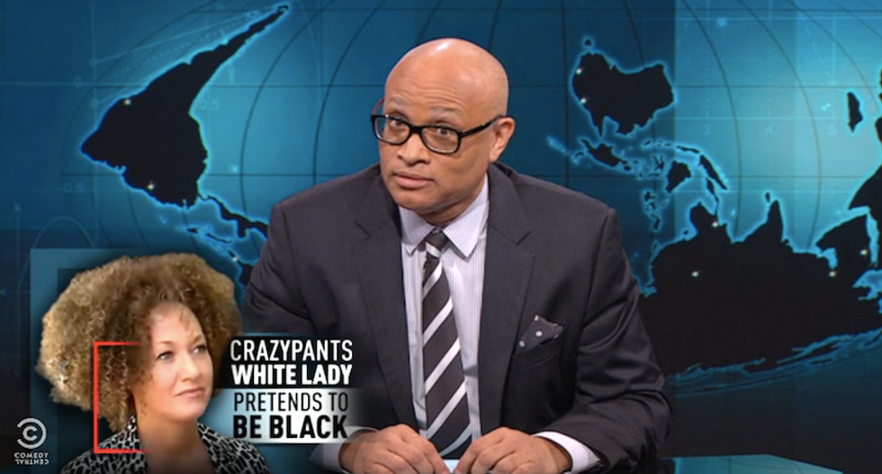 Larry Wilmore compares Rachel Dolezal to climate deniers: 'This is not based on science'
