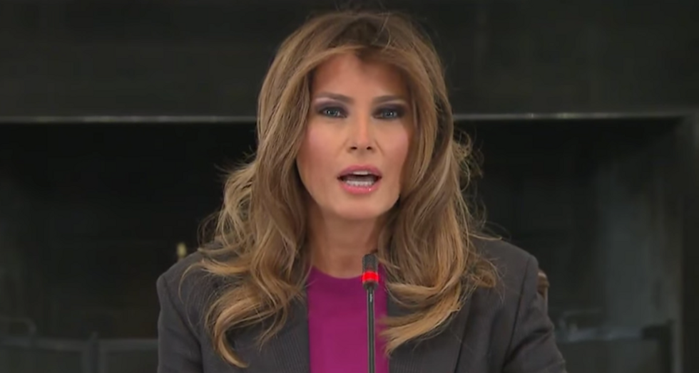 First lady's office rages at 'opposition media' for reporting on Melania copying Obama's cyberbullying pamphlet