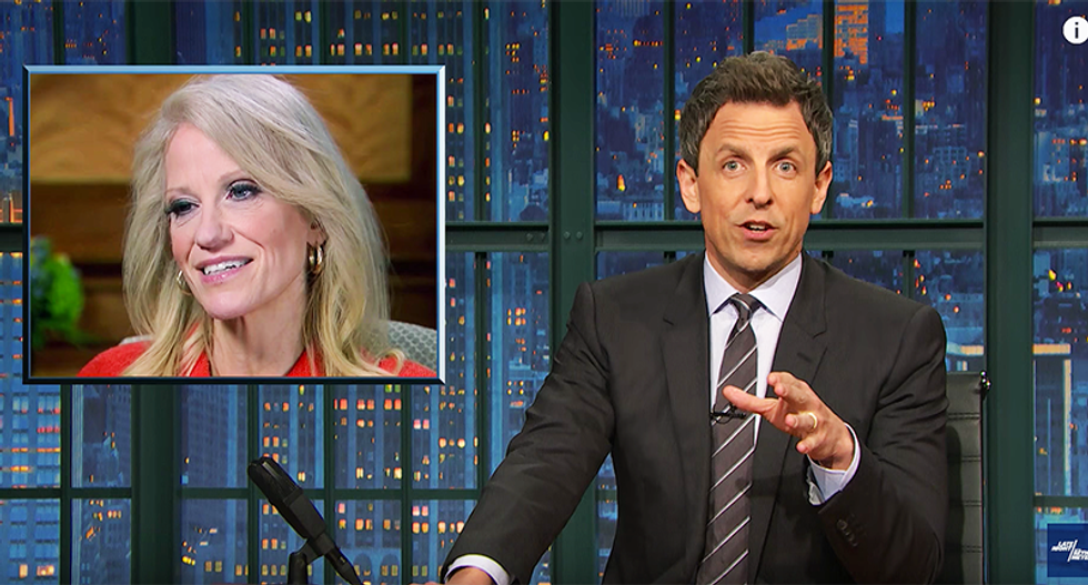 Seth Meyers: Kellyanne Conway's Bowling Green lie is a distraction from even worse lies about Obama