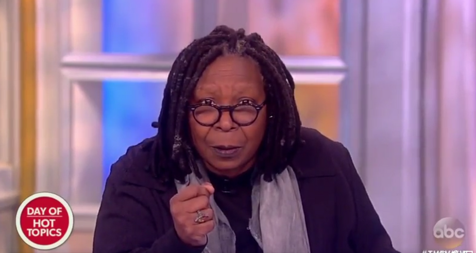WATCH: Whoopi Goldberg begs just one more Republican to 'grow a nut' and vote down DeVos