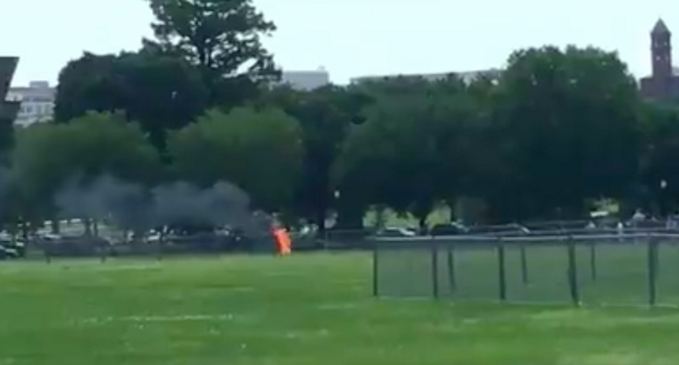 Man sets himself on fire before stunned onlookers outside White House