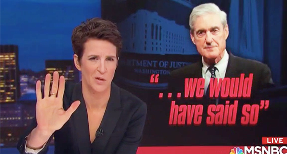 Rachel Maddow boils down Mueller's press conference into a damning 60 second clip