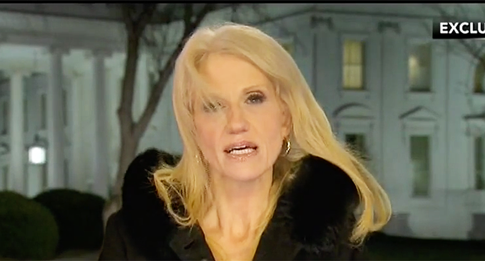 Kellyanne Conway refuses to say if she'll be reprimanded -- and offers 'every woman should have a boss' like Trump