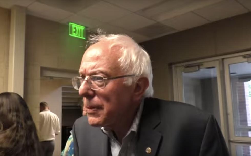 Bernie Sanders schools 'corporate media' reporter: No, I won't slam Hillary for you