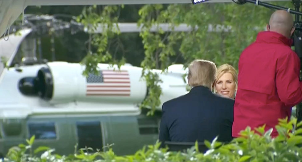 Trump delays D-Day ceremony to squeeze in an interview with Fox's Laura Ingraham