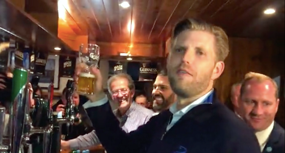 Eric and Don Jr returned to the US without paying their Irish bar tab: report
