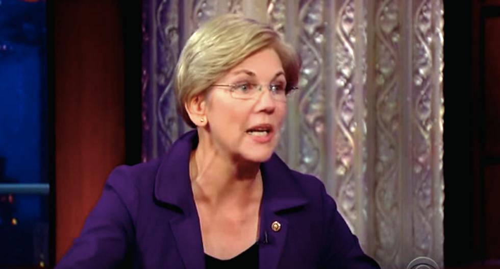 Elizabeth Warren tells Stephen Colbert why she would make a 'terrible' presidential candidate