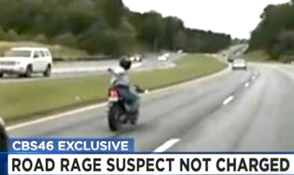 WATCH: Road-raging motorcyclist points gun at car -- and Georgia cops let him go