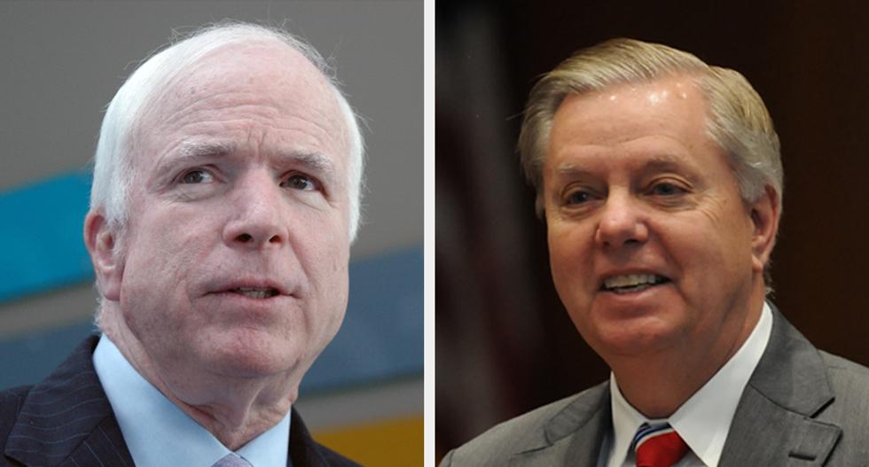 Republicans in revolt: GOP senators trash 'skinny repeal' in press conference