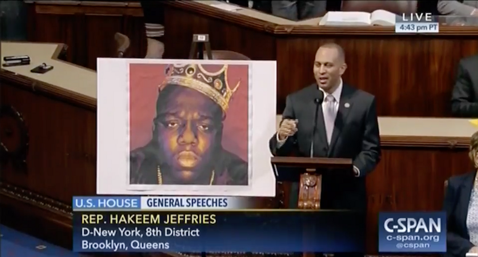 'Biggie Smalls is gone, but never forgotten': Dem Rep raps 'It Was All A Dream' on House floor