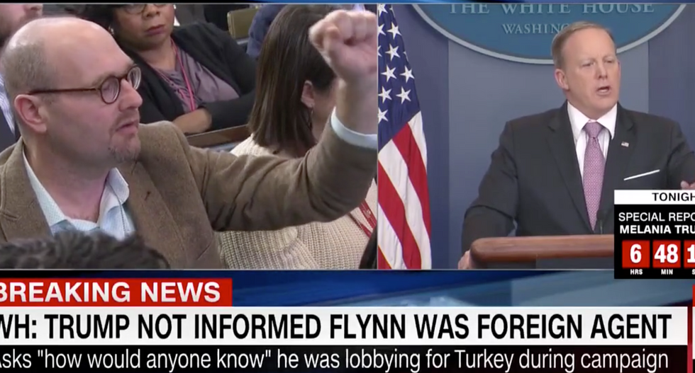 'How did that not raise a red flag?': Journalists grill Sean Spicer over Flynn's Turkey lobbying