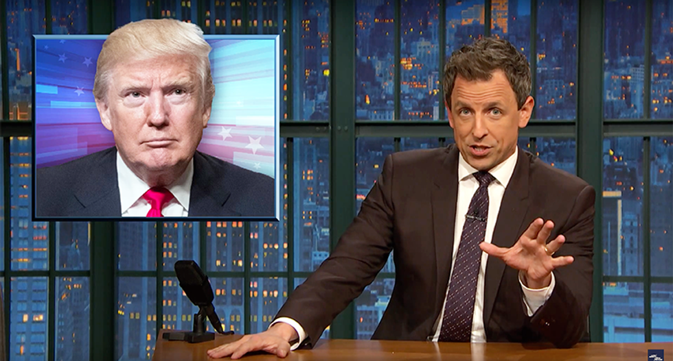 Seth Meyers mocks Trump: 'We are going to build a space wall and Mars is going to pay for it'