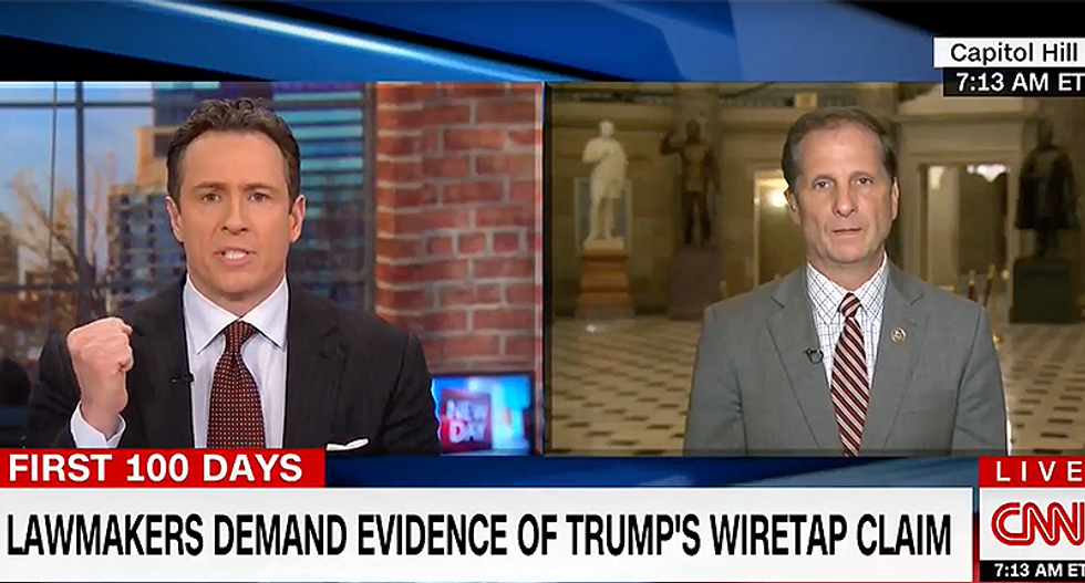 Chris Cuomo grills GOP congressman over Trump's wiretap conspiracy: Not 'all speculation is created equally'