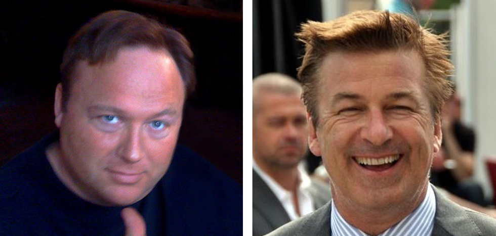 'I will break your neck': Alex Jones challenges 'scumbag' Alec Baldwin to a bare-knuckles fight