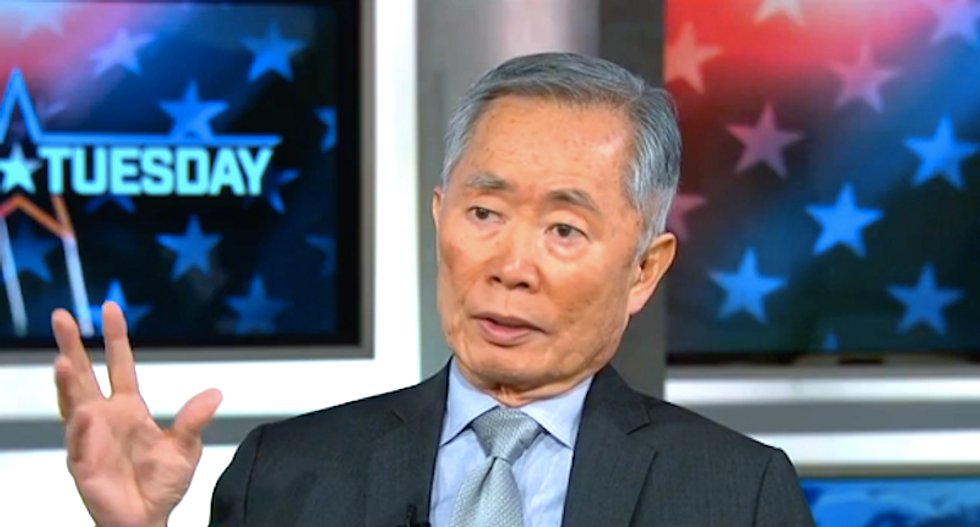 George Takei compares Trump fear-mongering to anti-Japanese hysteria during WWII