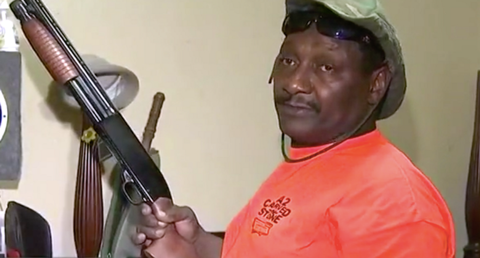 'Come back again': Georgia man asks for second chance to shoot burglars after they steal guns he kept for security