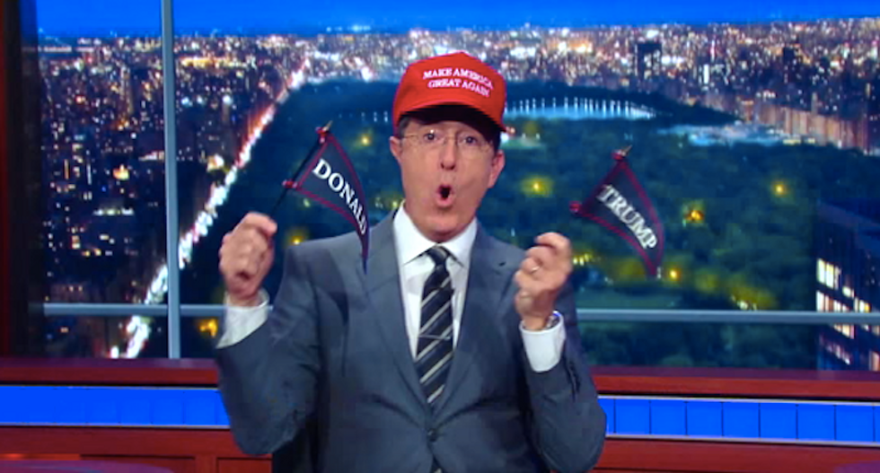 Stephen Colbert pushes Trump on delaying Supreme Court vote in special 'Trump phone' interview
